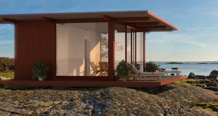Porches p rgolas casetas de madera for Casa moderna con tetto in legno