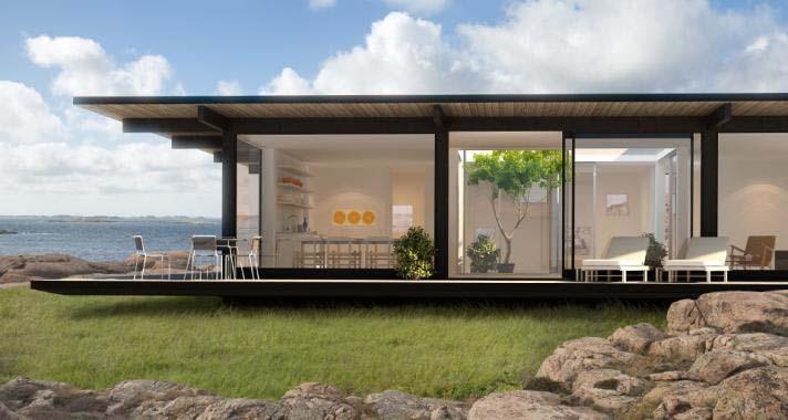 Casas de madera modernas con planos - Casetas de diseño