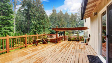Terraza de madera o Deck