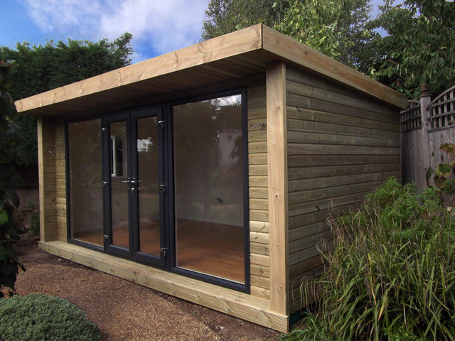 Oficina de madera para el jardín Modelo Expression