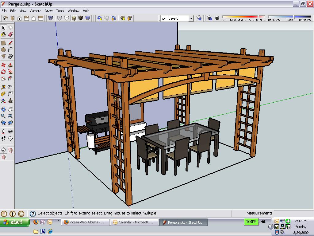 Dise o de jardines y exteriores con google sketchup for Programa diseno muebles