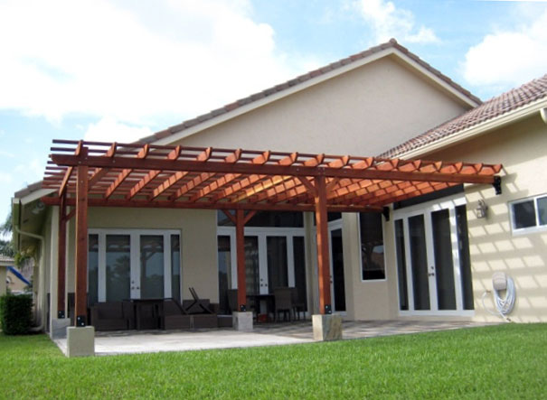 Hacer un porche de madera madera tratada para exteriores - Como hacer porche de madera ...